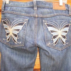 Frankie B Butterfly Skinny Jeans 24 X 35